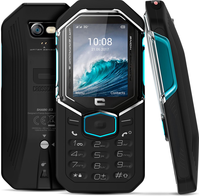 Téléphone Shark X3 Crosscall Noir
