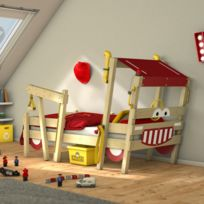 WICKEY - lit enfant  Crazy Sparky Max  design Pompier - Lit simple en bois 13711e9e975