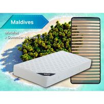 Altobuy - Maldives - Pack Matelas + Lattes 90x190