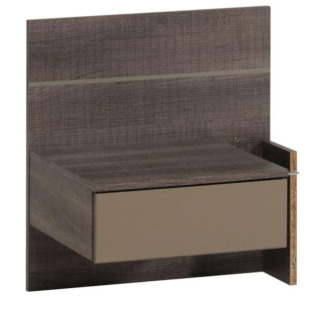 last meubles chevet splid suspendu pas cher achat. Black Bedroom Furniture Sets. Home Design Ideas