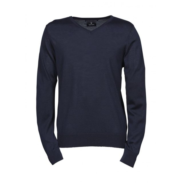 Tee-jays - Pull classique laine col rond - Homme - 6001 - bleu marine 35e11870f716