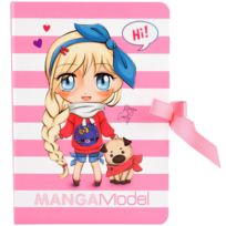 Kontiki - Bloc Notes rose Manga Model