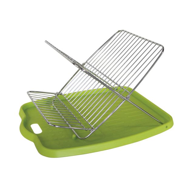 tutti cuisine gouttoir vaisselle design pliable vert pas cher achat vente egouttoir. Black Bedroom Furniture Sets. Home Design Ideas