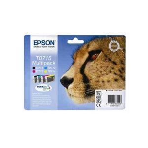 epson pack de 4 cartouches couleur guepard t0715 pas cher achat vente pack de cartouches. Black Bedroom Furniture Sets. Home Design Ideas