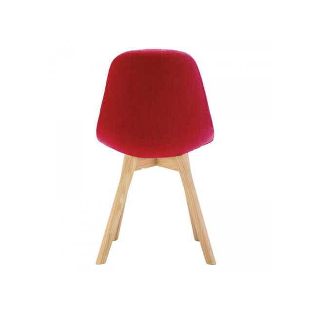 Bobochic Chaise Marius Lot de 4 chaises, Rouge pas cher