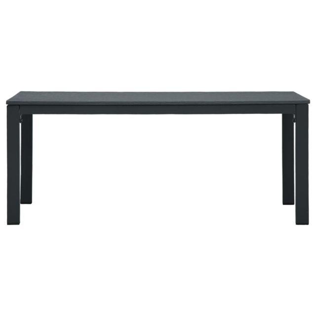 Icaverne - Tables basses ensemble Table basse Gris 98x48x39 cm PEHD Aspect de bois