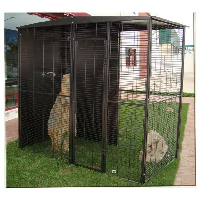 Imor - Volière de Jardin 2m² avec Toit 2 Pentes pour Oiseau - pas ... 935bfc88acdc