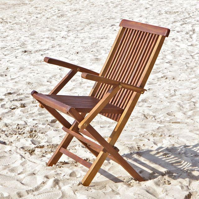 bois dessus bois dessous fauteuil de jardin en bois de teck pliant pas cher achat vente. Black Bedroom Furniture Sets. Home Design Ideas