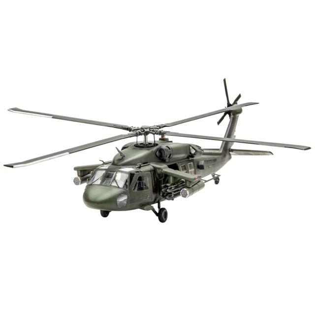 REVELL Model Set UH - 60A Transport Heli - 64940 Model Set : maquette plastique à monter, à coller et à peindre. Le Model Set contient les peintures Aqua Color principales, 1 colle et 1 pinceau