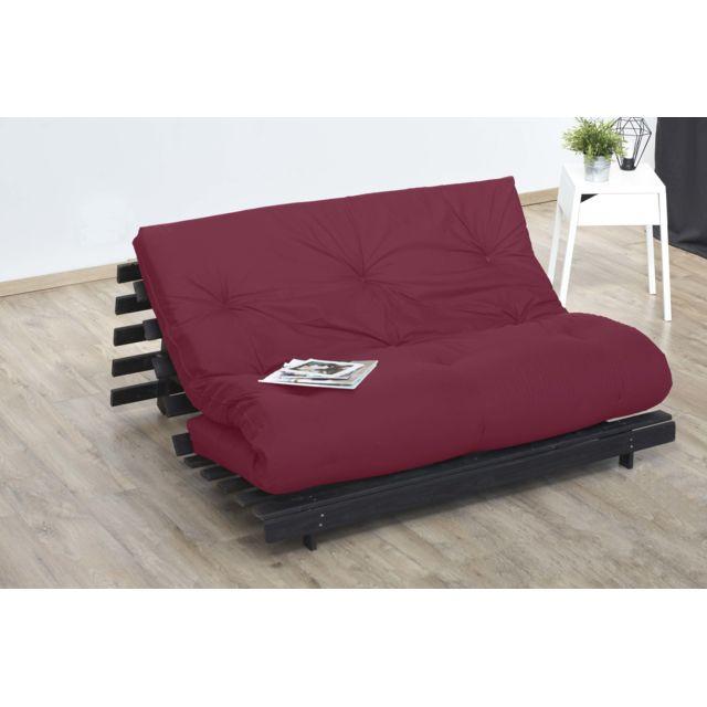 lovea matelas futon coton rouge 160x200 achat vente matelas pas chers rueducommerce. Black Bedroom Furniture Sets. Home Design Ideas