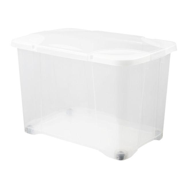 Eda - Boîte de rangement Clip box 60L transparente Nc
