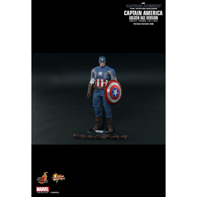 Hot Toys Mms240 - Marvel Comics - Captain America : The Winter Soldier - Captain America Golden Age Version