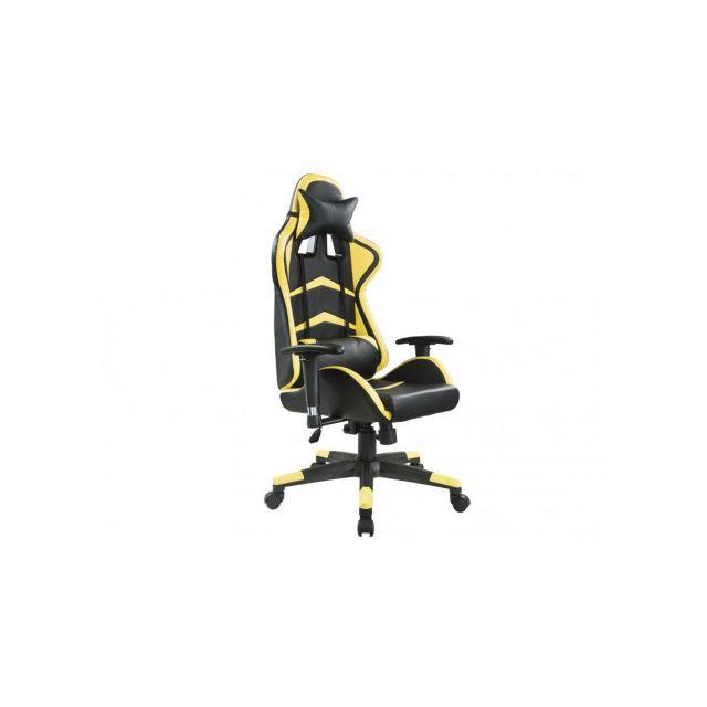 marque generique fauteuil de bureau gamer combo dossier inclinable simili noir jaune. Black Bedroom Furniture Sets. Home Design Ideas