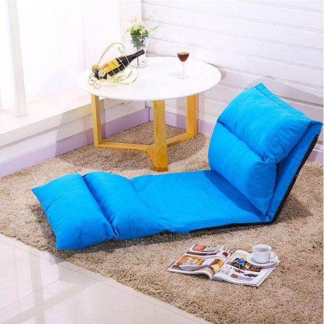 Wewoo Fauteuil Lit pliant Salon Moderne Canapé Meuble Chaise de jeu au sol Canapé-lit-lit Bleu