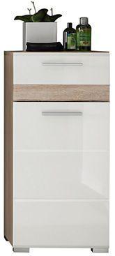comforium meuble bas salle de bain 1 porte et 1 tiroir blanc et chne