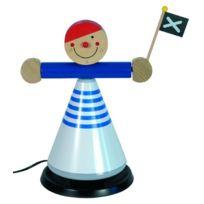Niermann Standby - 294 Pirate Lampe De Bureau Pour Enfants Plastique Bois 20 Watts