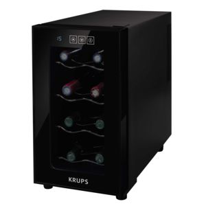 krups cave vin de service 8 bouteilles noir pas cher achat vente cave vin. Black Bedroom Furniture Sets. Home Design Ideas