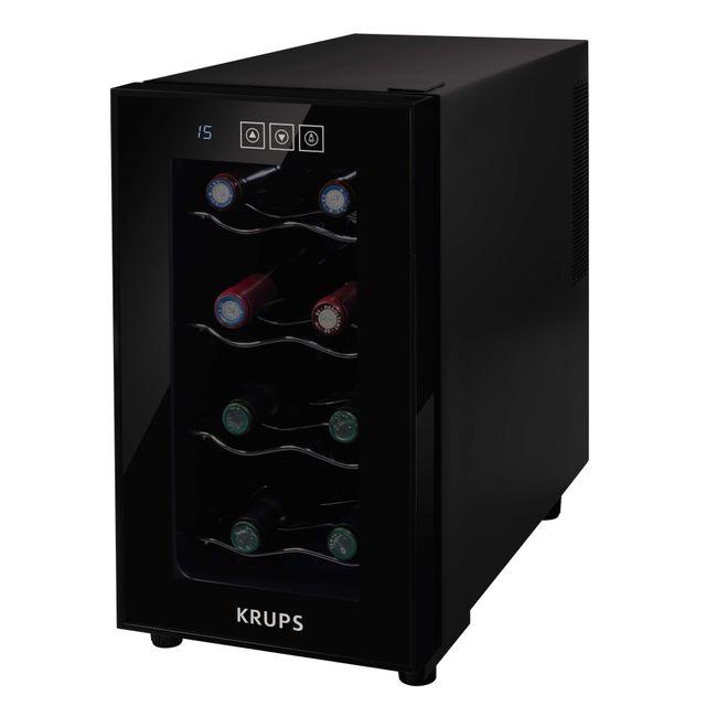 krups cave vin de service 8 bouteilles noir pas cher achat vente cave vin. Black Bedroom Furniture Sets. Home Design Ideas