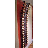 Sobrio - Support mural en plexiglas transparent pour 38 bouteilles illumination Led optionnelle Plexiglas transparent Aci-sbr111