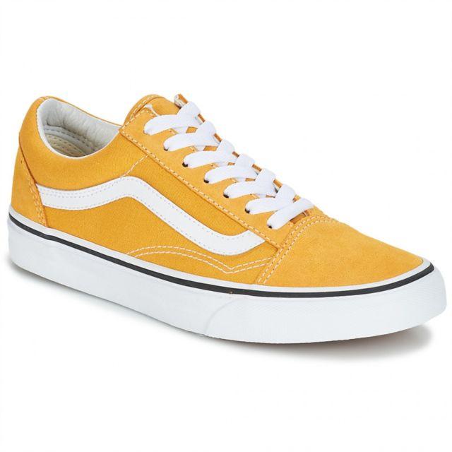 chaussures vans jaune moutarde