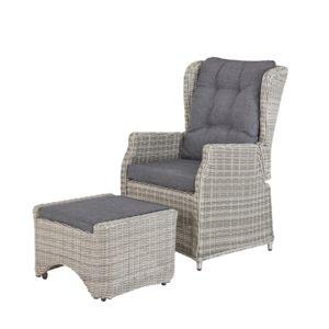 rotin design fauteuil relax king en r sine gris pas cher achat vente ensembles canap s et. Black Bedroom Furniture Sets. Home Design Ideas