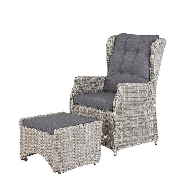 soldes rotin design soldes 29 fauteuil relax king en r sine gris pas cher achat vente. Black Bedroom Furniture Sets. Home Design Ideas