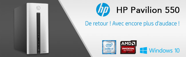 achat hp pavilion 550 105nf argent ordinateur de bureau intel core i7. Black Bedroom Furniture Sets. Home Design Ideas