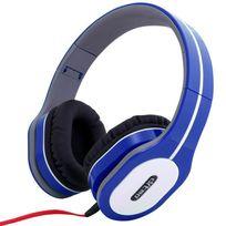 Yonis - Casque arceau réglable pliable anti bruit isolation phonique Bleu