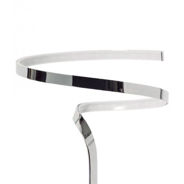 Kosilum - Lampe de chevet Led design - Spiro Argenté / Chromé