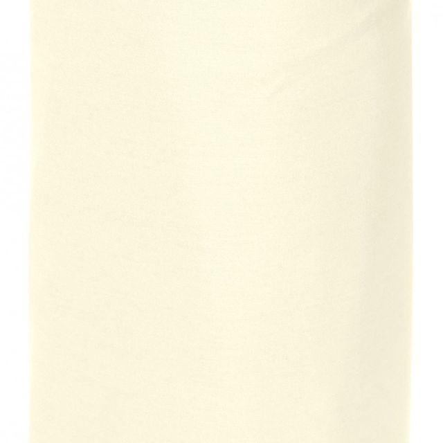 100pourcentcoton drap housse 180x200 cm 100 percale gros bonnet de 40 cm couleur ivoire gamme. Black Bedroom Furniture Sets. Home Design Ideas