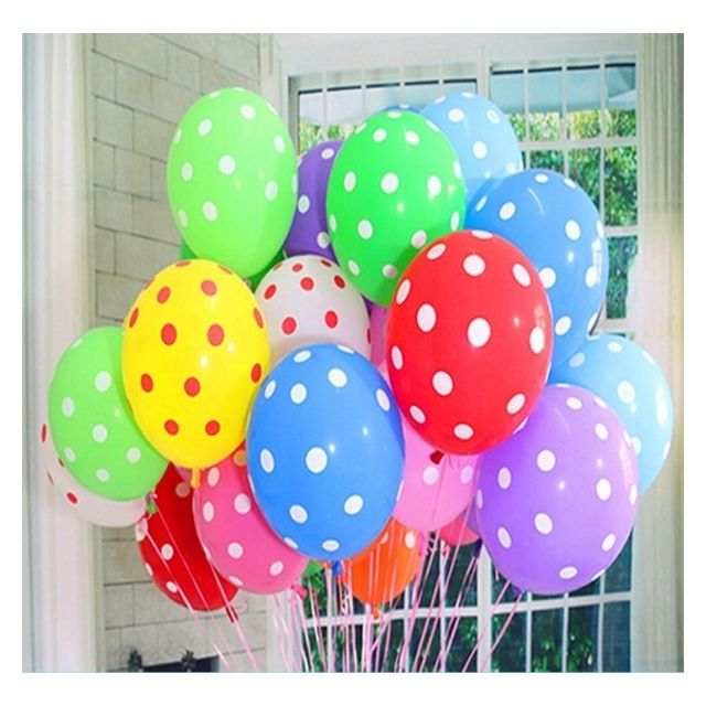 Alpexe   100 Ballon Gonflable De Petits Points Multicolore Diamètre De 30cm Déco  Pour Anniversaire Fête Mariage Enfant   Pas Cher Achat / Vente Appcessoires  ...
