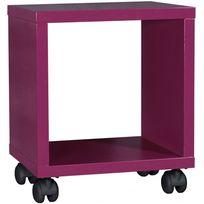 Comforium - Chevet pour chambre d'enfant coloris fuchsia