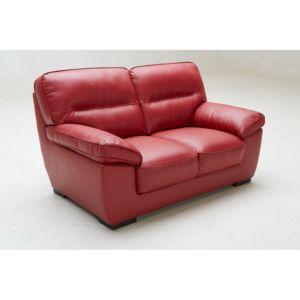 marque generique canap fixe en cuir de vachette valentina rouge 2 places 0cm x 0cm x 0cm. Black Bedroom Furniture Sets. Home Design Ideas