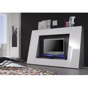 envie de meubles meuble tv blanc laqu avec led pix pas cher achat vente meubles tv hi fi. Black Bedroom Furniture Sets. Home Design Ideas