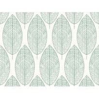 Graham And Brown - Papier peint 100% intissé motif feuille ajourée vert 10.05x0.52m Kori