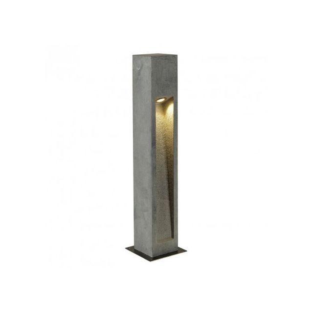 Slv Borne extérieur basalte Arrock Stone Led Ip44 H75 cm