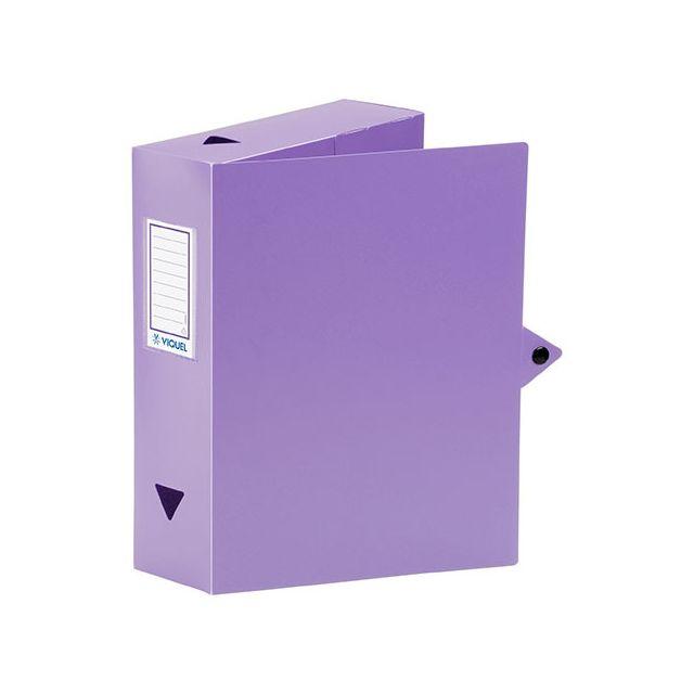 viquel bo te de classement plastique dos 8 cm violette lot de 6 mauve pas cher achat. Black Bedroom Furniture Sets. Home Design Ideas
