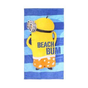 les minions serviette de plage minions multicolore 140cm x 70cm pas cher achat vente. Black Bedroom Furniture Sets. Home Design Ideas