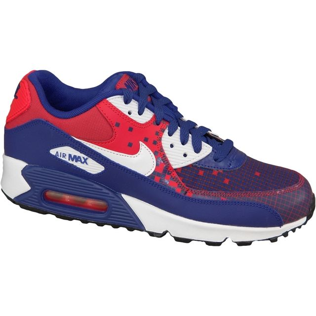 935663a6d0ca2f Nike Air Max 90 Gs 724882 401 Bleu pas cher Achat / Vente Mesh ...