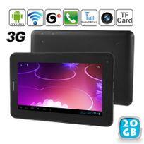 Yonis - Tablette tactile 3G Android 4.0 7 pouces Gsm WiFi Hd 3D 20 Go Noir