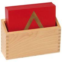 Vinco Educational - formes géométriques et sa boîte de rangement - sachet de 13 plaques