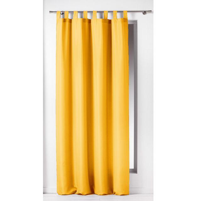 1 Rideau à passants uni Modele Essentiel Jaune 140 x 260 cm