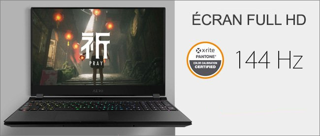 Aero 15 - Ecran Full HD 144Hz