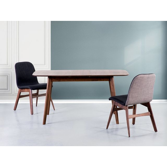 Beliani Table de salle à manger - Table de cuisine - extensible - 120-150x75 cm - marron - Madox