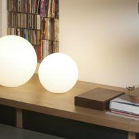 Slide - Globo In - Lampe à poser Blanc Ø30cm