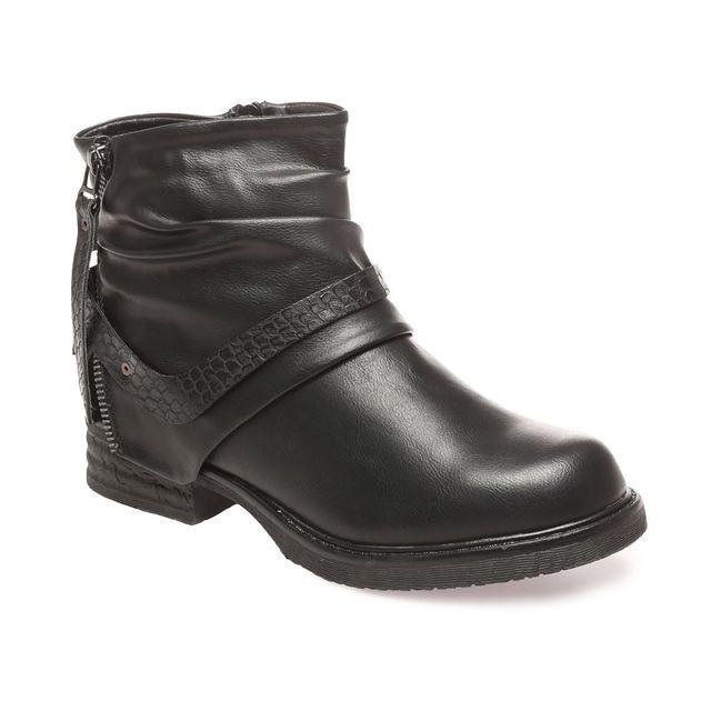 Soldes Lamodeuse - Bottines noires effet plissé détail croco 40 - pas cher  Achat   Vente Boots femme - RueDuCommerce 7d9b2e3fda40