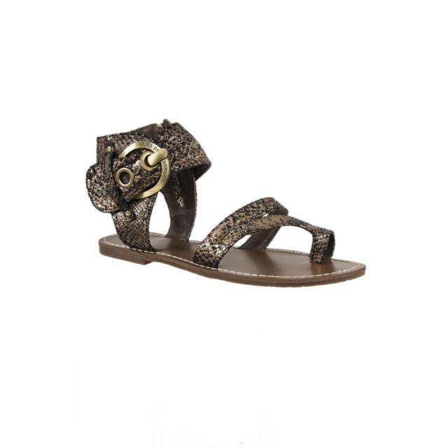 Lpb - sandales - nu pieds pensee marron - pas cher Achat   Vente ... a84261e858f4