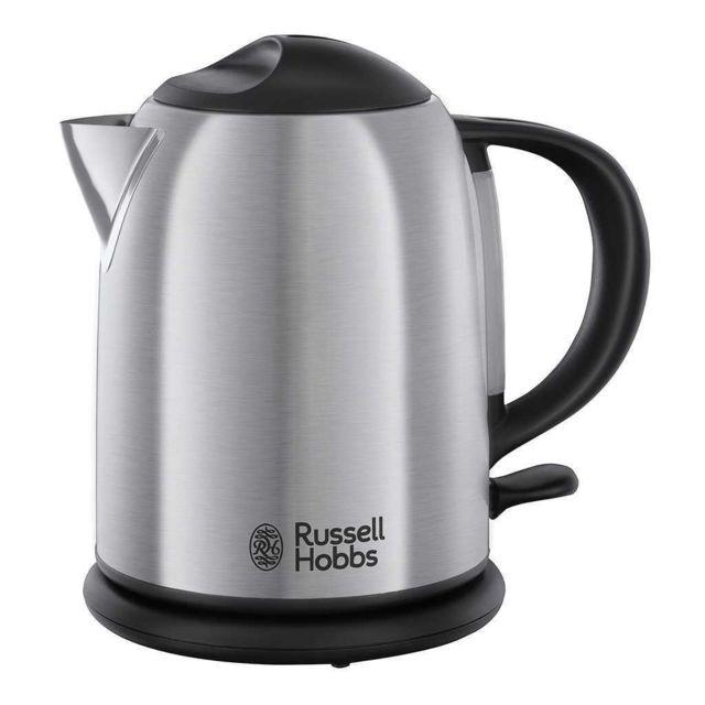 RUSSELL HOBBS Bouilloire compacte Oxford - 20195-70 Une petite bouilloire à la fois puissante et élégante. La bouilloire Compacte Oxford possède une finition en acier brossé haut de gamme extrêmement chic. Con&cced