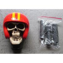 Universel - Levier de vitesse crane casque moto rouge biker pommeau b41710564ba