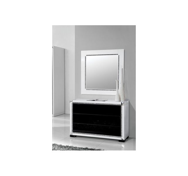 Chloe Decoration Commode Moderne Collection Rubis Miroir Inclus